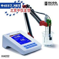 HI 4222CHANNA超大彩屏高精度双通道酸度测定仪【pH/ORP/ISE/温度】HI1230B塑胶电极