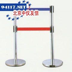伸缩隔离栏铁喷塑,黑色带,2米