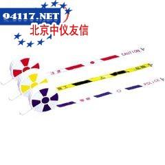 手柄盒式PVC反光护栏带警察(中英文),蓝/白色