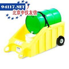 5300-YE化学品桶搬运和分装两用车80加仑,最大承重273kg