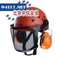 配有耳罩与网孔面罩头盔