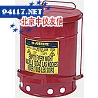 09500JUSTRITE油渍废弃物防火桶14加仑