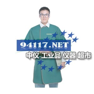 X射线防护服正穿半袖单面式,0.25mmP|0.50mmPb
